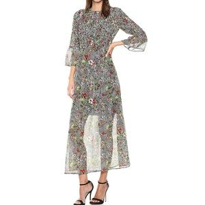 ECI New York Floral Striped Long-sleeve Maxi